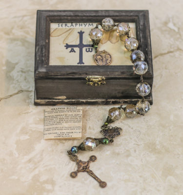 Champagne Crystal One Decade Rosary