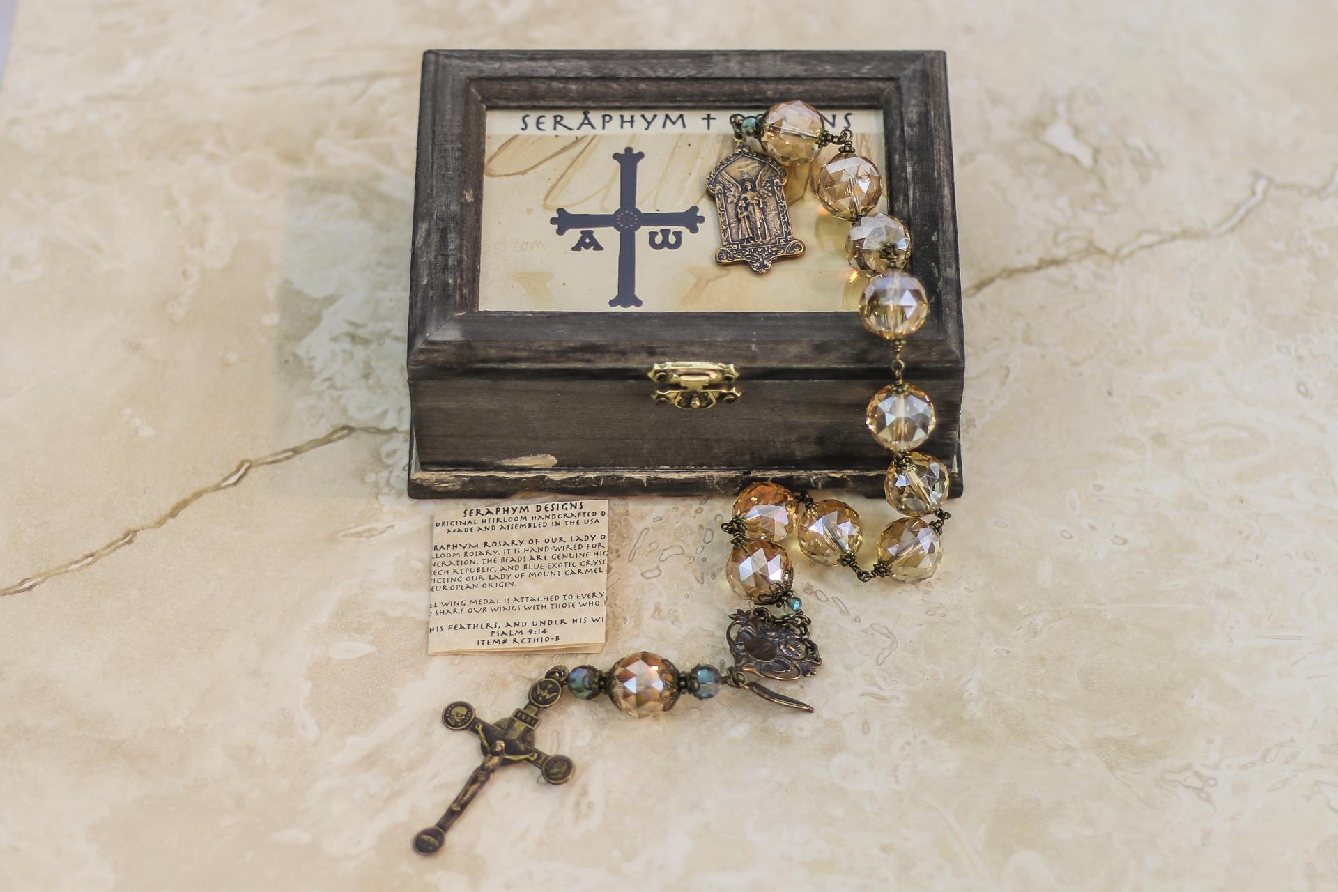 Dark Champagne Crystal One Decade Rosary