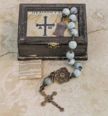 Aqua Agate One Decade Rosary