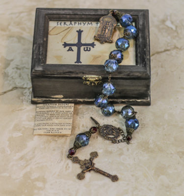 Blue Crystal One Decade Rosary