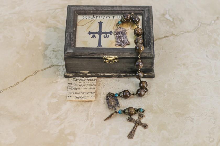 Bronzite & Turquoise One Decade Rosary