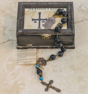 Lava Stone & Turquoise One Decade Rosary