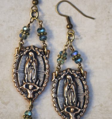 The Seraphym Earrings of Our Lady of Guadalupe