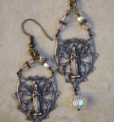 The Seraphym Earrings of Our Lady of Lourdes