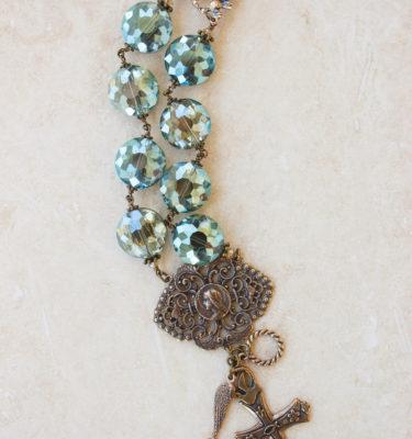 Olive Crystal Bracelet – 16mm