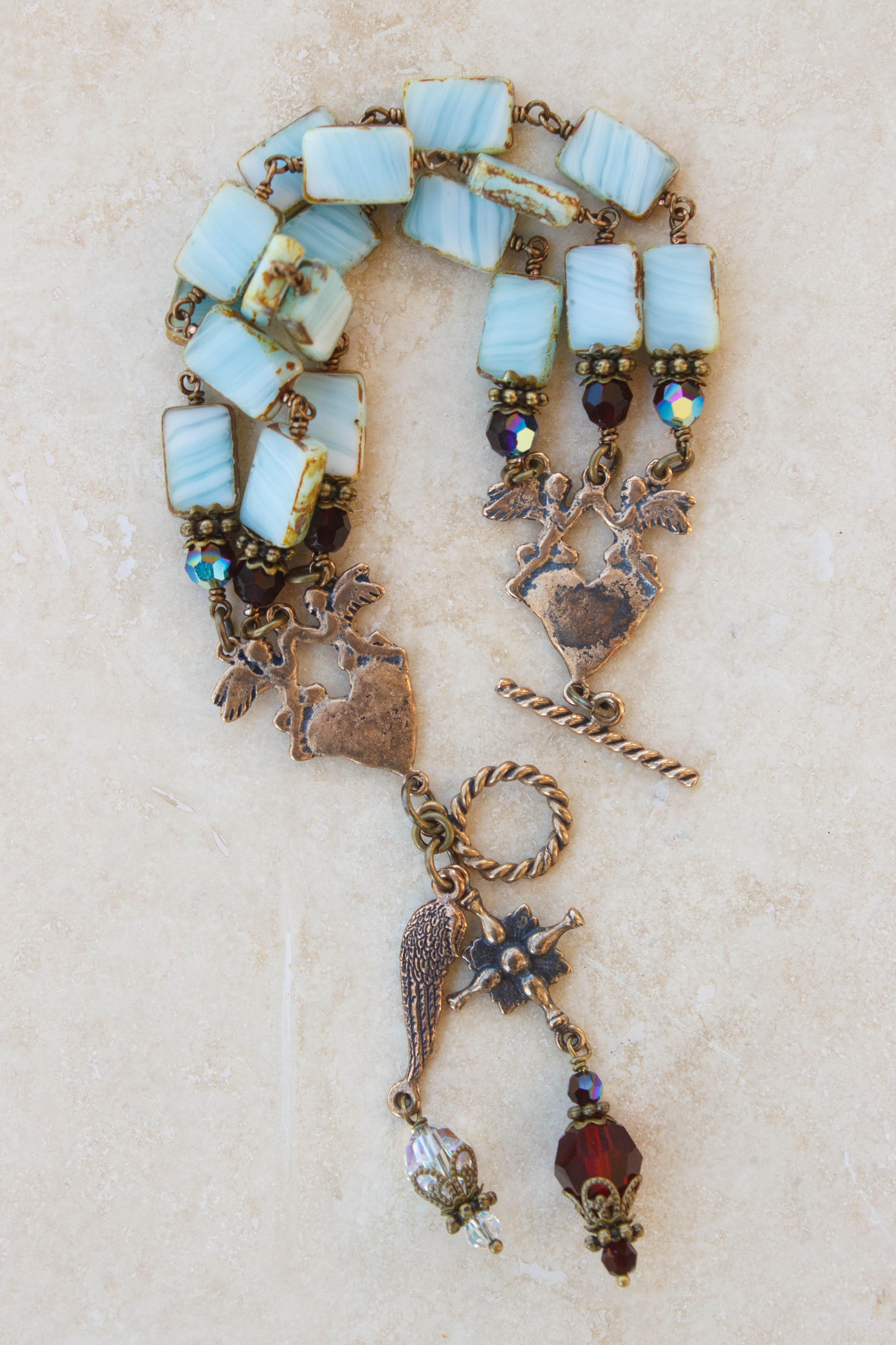 Stone Czech Glass Bracelet