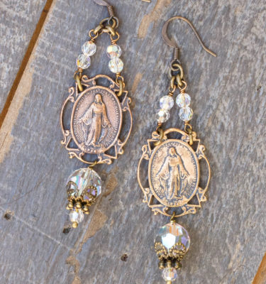 Clear Crystal Earrings – Our Lady of Grace