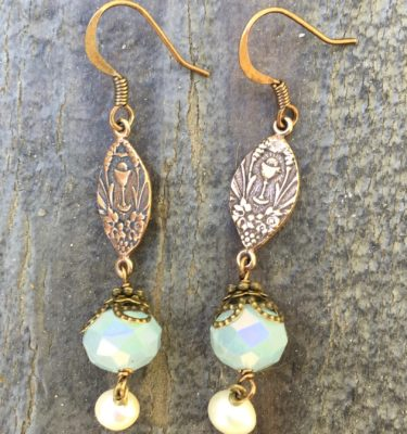 Faceted Baby Blue Crystal Earrings
