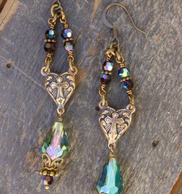 Garnet Swarovski Crystal Earrings