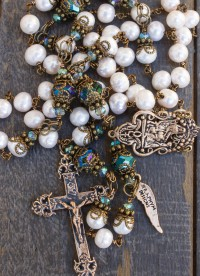 Cream Fresh Water Pearl Heirloom Rosary