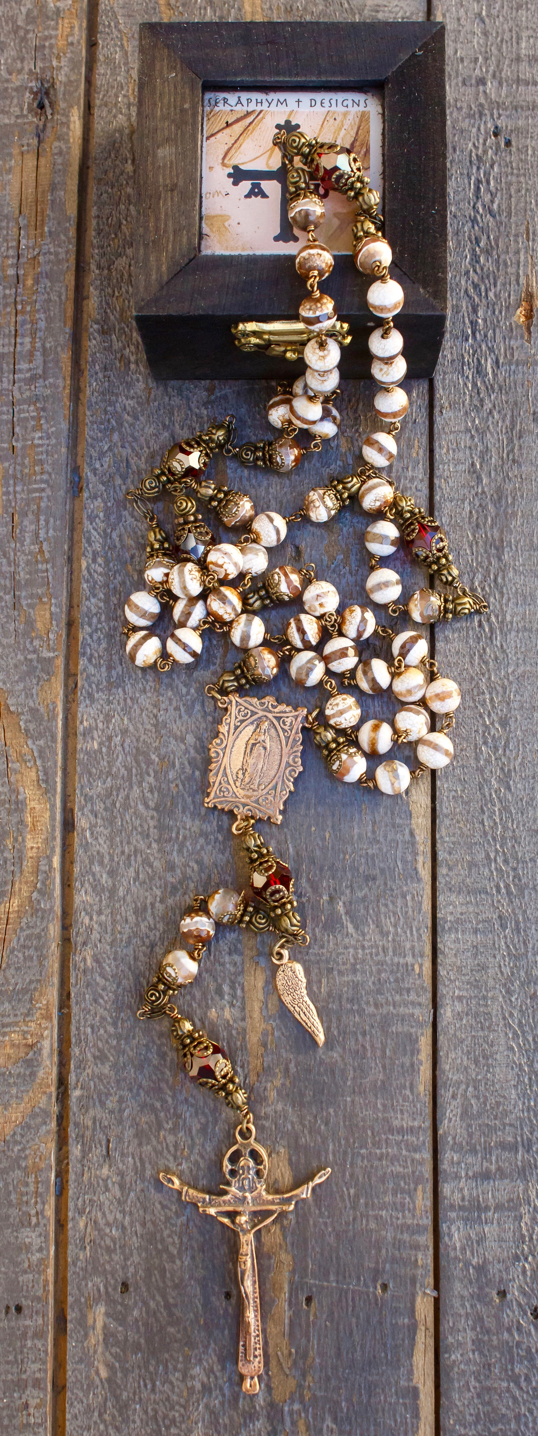 Striped Agate Heirloom Rosary