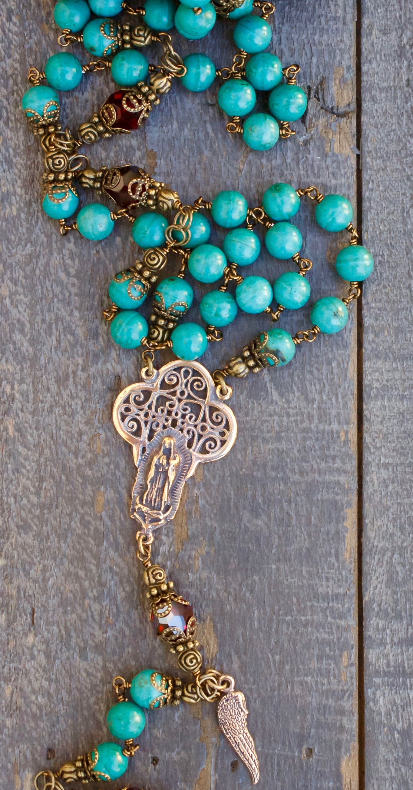 Natural Magnesite Heirloom Rosary