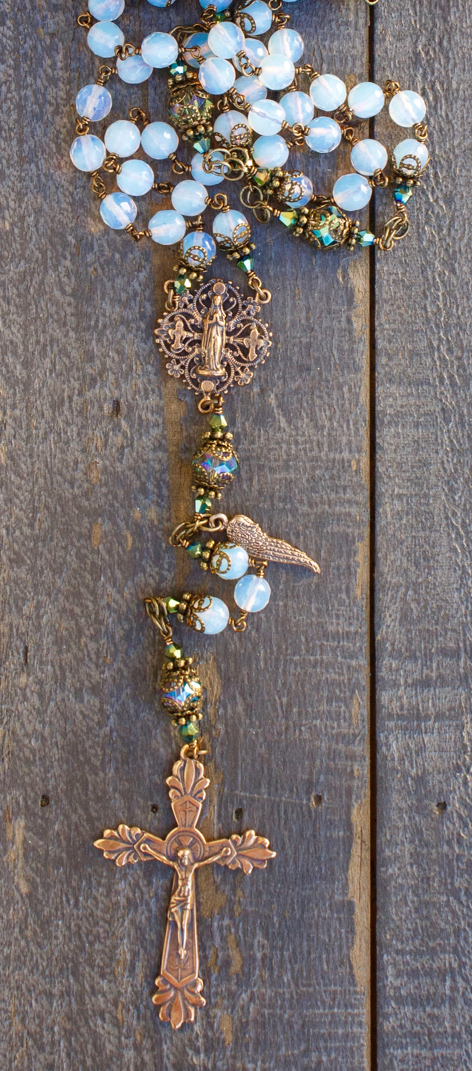 Natural Oplaite Heirloom Rosary