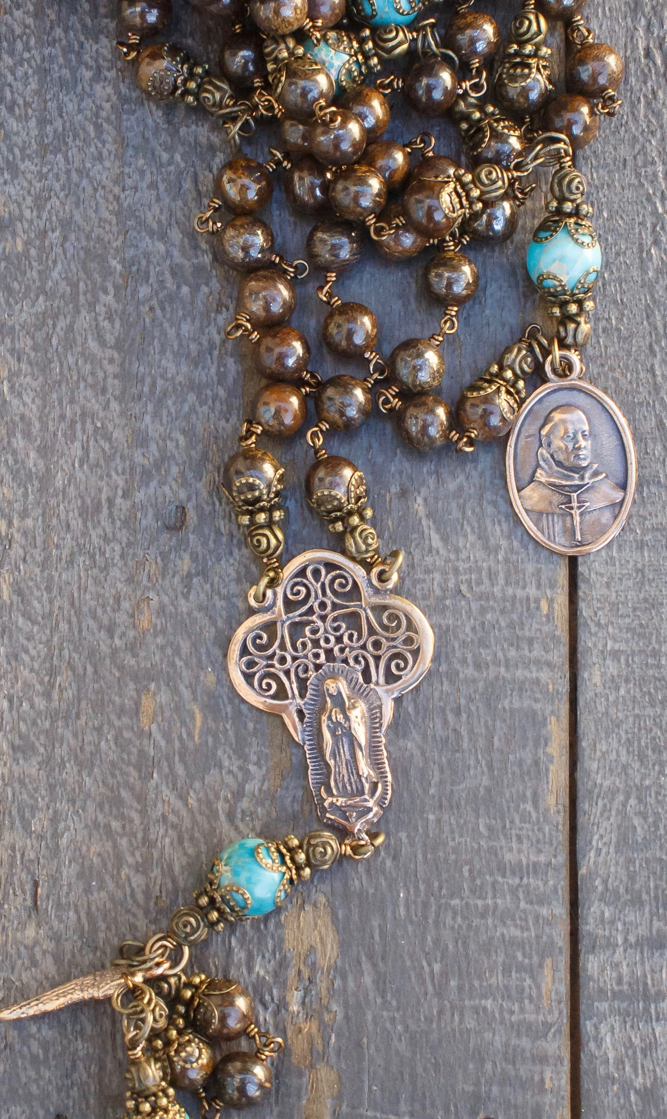 Natural Bronze Heirloom Rosary