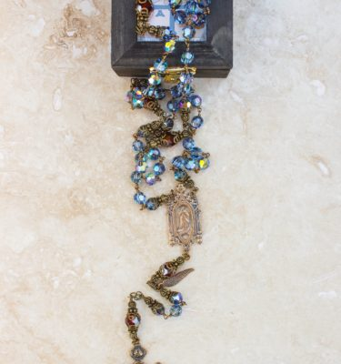 Denim Blue Swarovski Crystal Rosary