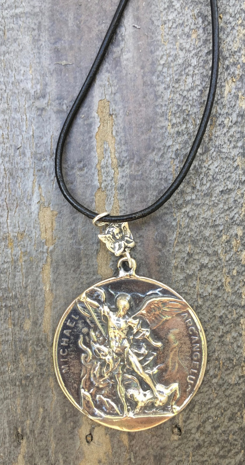 stmike designs day the rv necklace on this archangel michael leather shop st