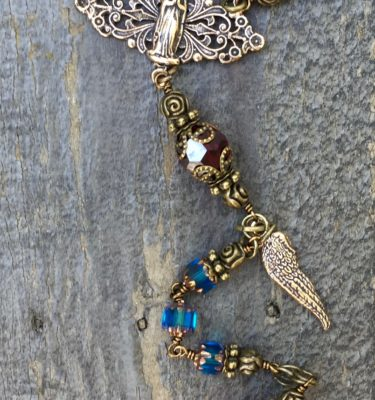 Dark Sapphire Glass Rosary – 6mm