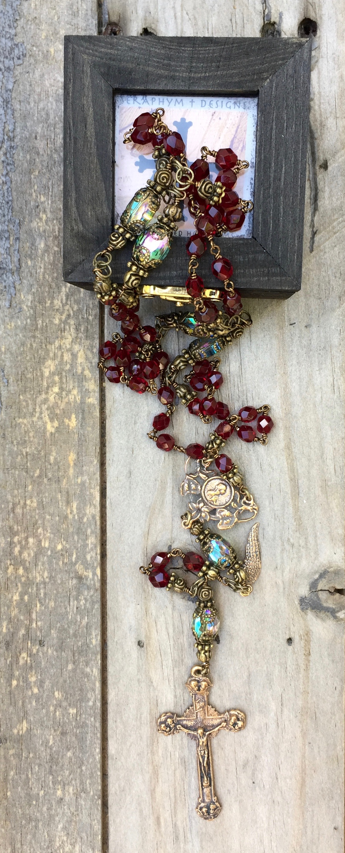 Garnet Glass Rosary – 6mm