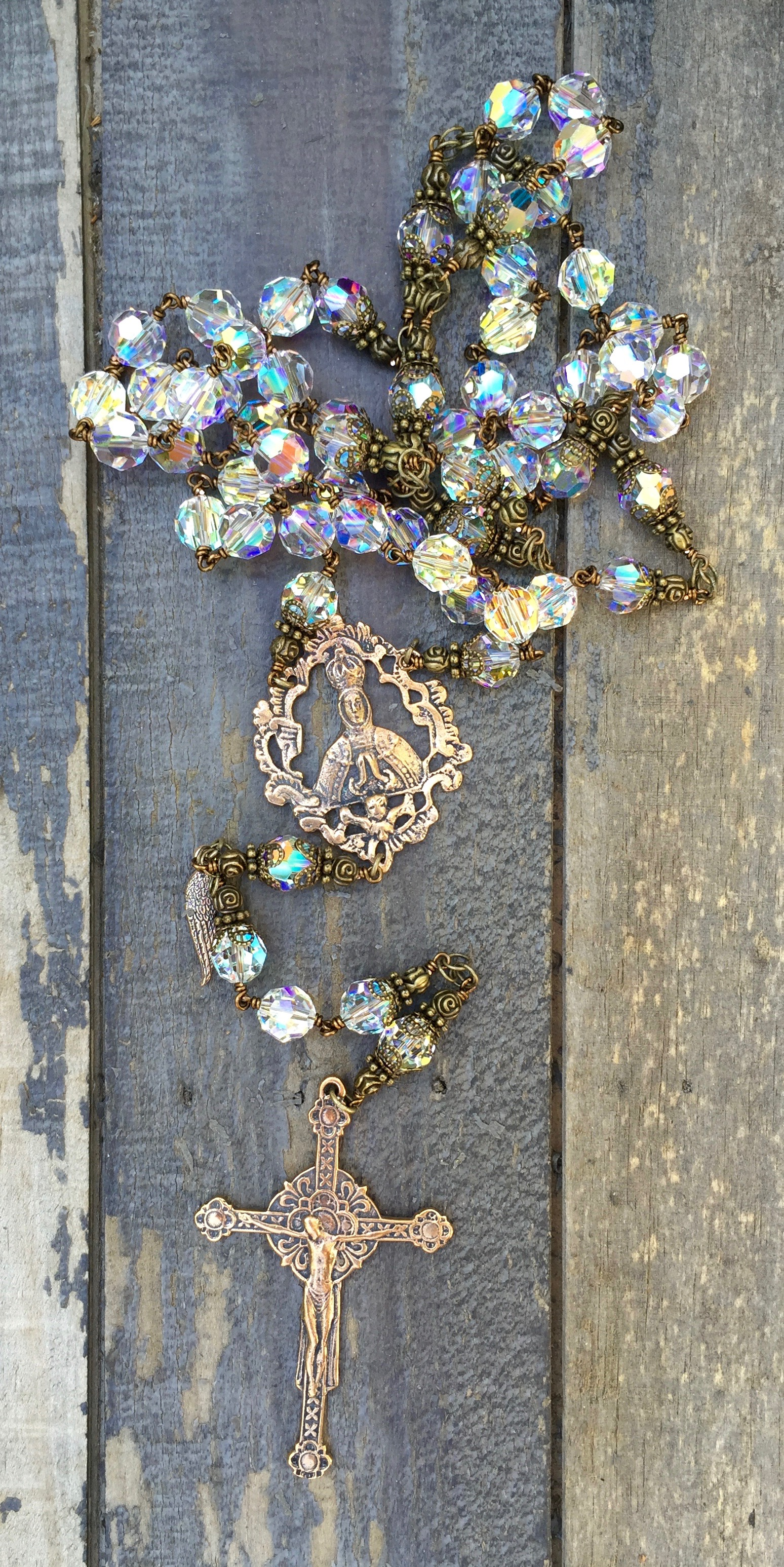 Clear Crystal Rosary – 10mm