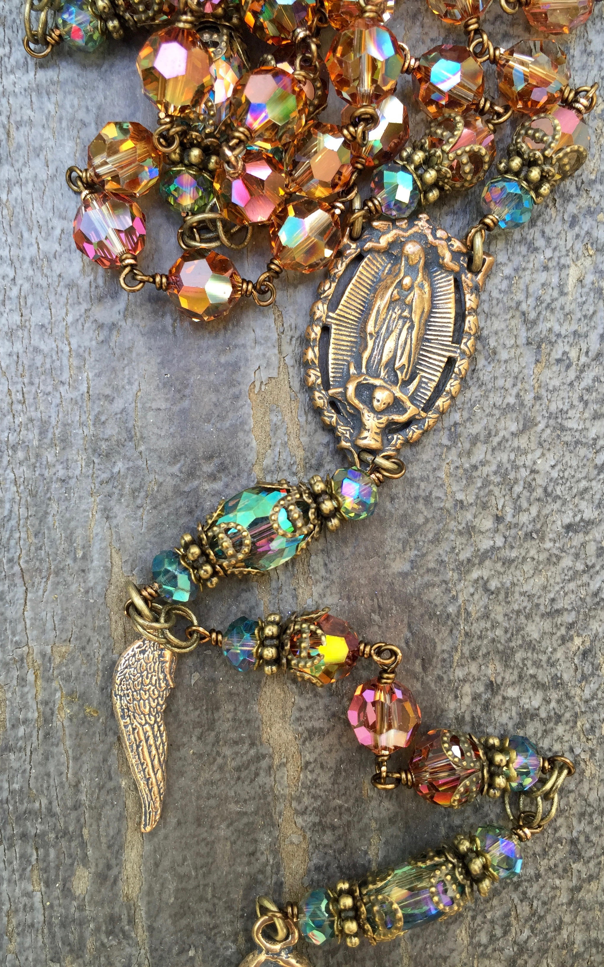 Amber Crystal Rosary – 8mm