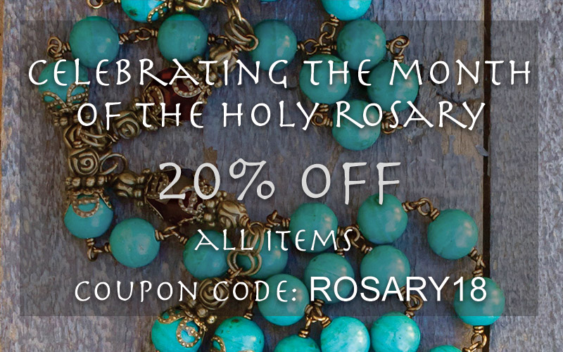 20% off with coupon code: ROSARY18
